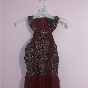Beautiful wine colored formal dress